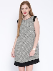 AND by Anita Dongre Black & White Printed Shift Dress