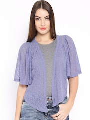 AND by Anita Dongre Purple Lace Shrug