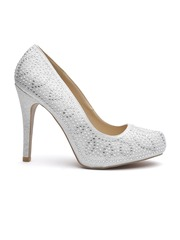 Qupid Women Silver-Toned Embellished Pumps