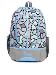 F Gear Dropsy 3D P Z Grey & Green Casual Backpack