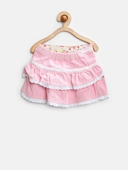Gini and Jony Baby Girls Pink Tiered Corduroy Skirt