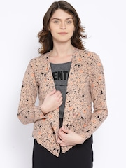 ONLY Brown & Black Printed Jacket