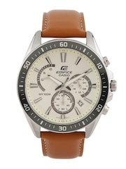 CASIO Edifice Men Chronograph Off-White Dial Watch EX279