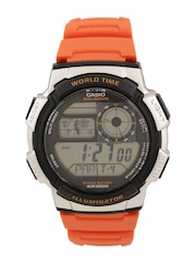 CASIO Youth Series Men Orange Digital Watch