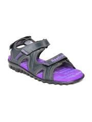Reebok Women Charcoal Grey Reeflex Sports Sandals
