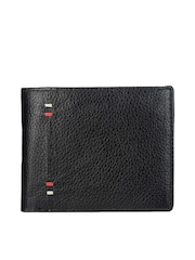 Teakwood Leather Men Black Genuine Leather Wallet