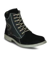 Get Glamr Men Black Suede Boots