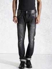 Roadster Black Distressed Jeans