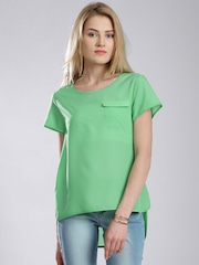 French Connection Green High-Low Top