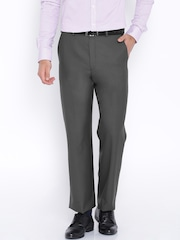 Park Avenue Grey Comfort Fit Formal Trousers