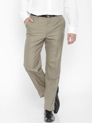 Park Avenue Brown Comfort Fit Formal Trousers