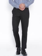 Park Avenue Black Smart Fit Formal Trousers