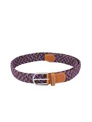 Alvaro Castagnino Men Purple & Olive Green Belt