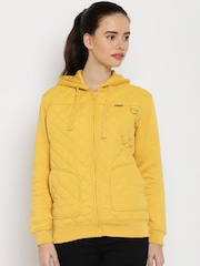 HARVARD Yellow Quilted Hooded Jacket