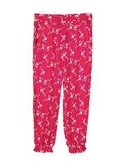 Beebay Girls Pink Printed Harem Pants