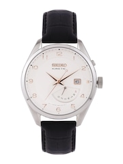 SEIKO Kinetic Men Off-White Dial Watch SRN049P1