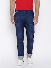 John Players Blue Low-Rise Slim Fit Jeans