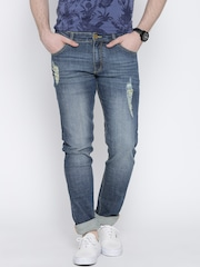 John Players Blue Washed Skinny Fit Jeans