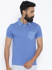 Indian Terrain Blue Printed Polo T-shirt