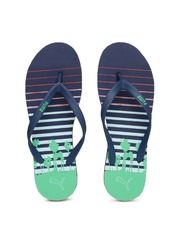 PUMA Men Navy & Green Printed Flip-Flops