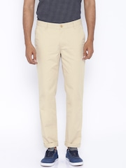 John Players Beige Slim Trousers
