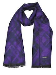 Alvaro Castagnino Purple & Black Reversible Muffler