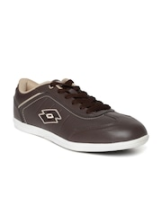 Lotto Men Coffee Brown Perforated Sports Shoes
