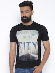 Wrangler Black Printed T-shirt