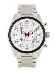 Swiss Eagle Men White Dial Chronograph Watch SE-9062-33