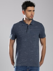 Tommy Hilfiger Blue Melange Custom Fit Polo T-shirt