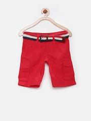 Tommy Hilfiger Boys Red Cargo Shorts