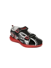 Kittens Boys Black Sports Sandals