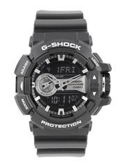 CASIO G-Shock Men Chronograph Silver-Toned & Navy Analogue & Digital Watch G649