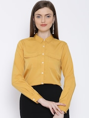 United Colors of Benetton Mustard Yellow Shirt