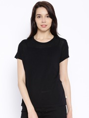 United Colors of Benetton Black Printed Back Top