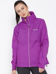 Columbia Purple Switchback II Hooded Rain Jacket