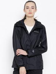 Columbia Black Arcadia II Hooded Rain Jacket