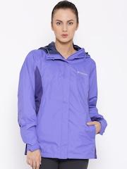 Columbia Purple Arcadia II Hooded Rain Jacket