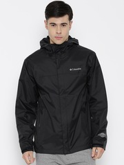 Columbia Black Watertight Hooded Rain Jacket