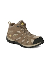 Columbia Women Beige Redmond Waterproof Mid-Top Trekking Shoes