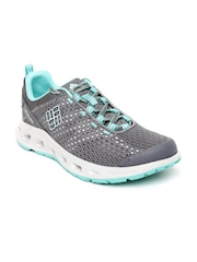 Columbia Women Grey Drainmaker III Walking Shoes