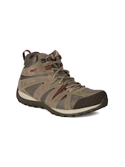 Columbia Women Taupe Grand Canyon Outdry Mid-Top Trekking Shoes