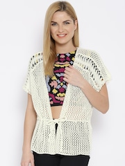 Vero Moda Off-White Crochet Shrug