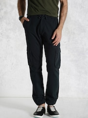 Roadster Navy Cargo Jogger Trousers