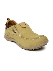 Woodland Men Light Brown Leather Casual Shoes