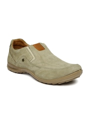 Woodland Men Brown Leather Casual Shoes