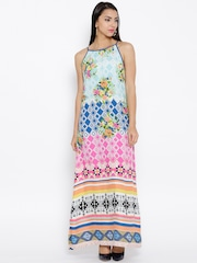 BIBA Multicoloured Printed Maxi Dress