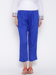 BIBA Blue Casual Trousers