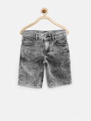 United Colors of Benetton Boys Grey Washed Denim Shorts