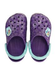 Crocs Girls Purple Printed Clogs